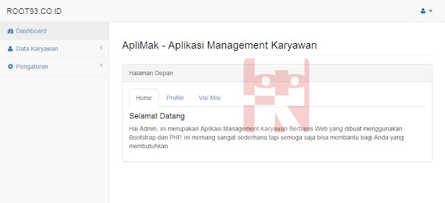 tampilan halaman depan aplikasi