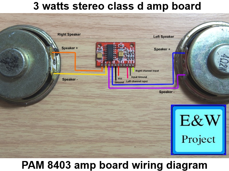 PAM 8403 board amp wiring diagram