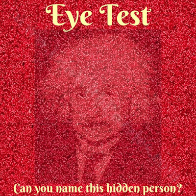 Hidden face puzzle eye test
