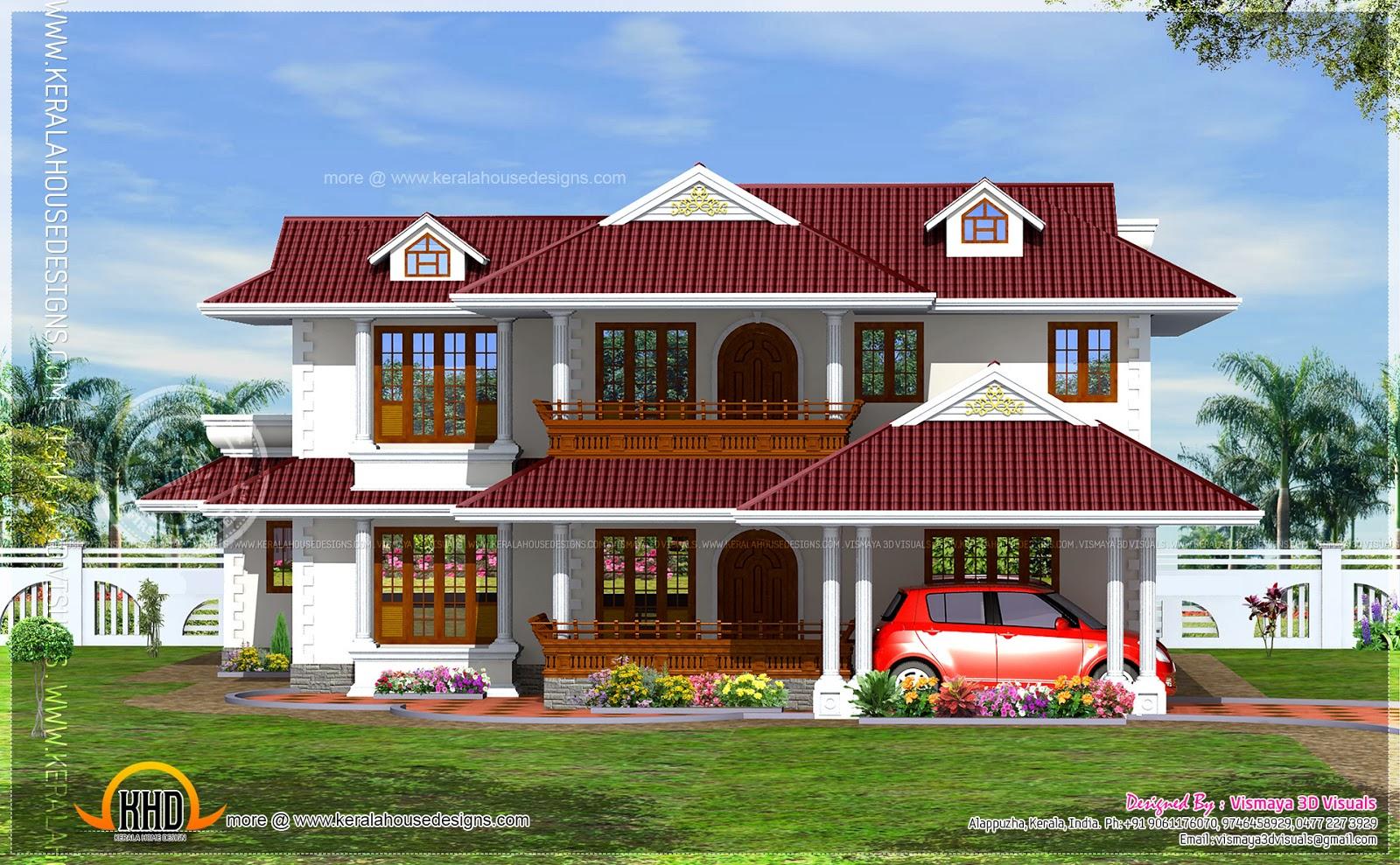 4 Bedroom Kerala Home Design