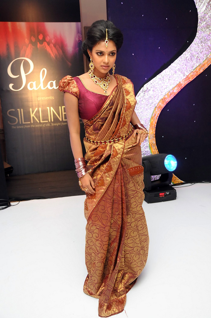 Gorgeous Amala paul in silk saree