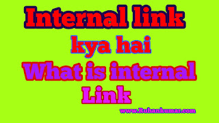Internal link kya hota hai