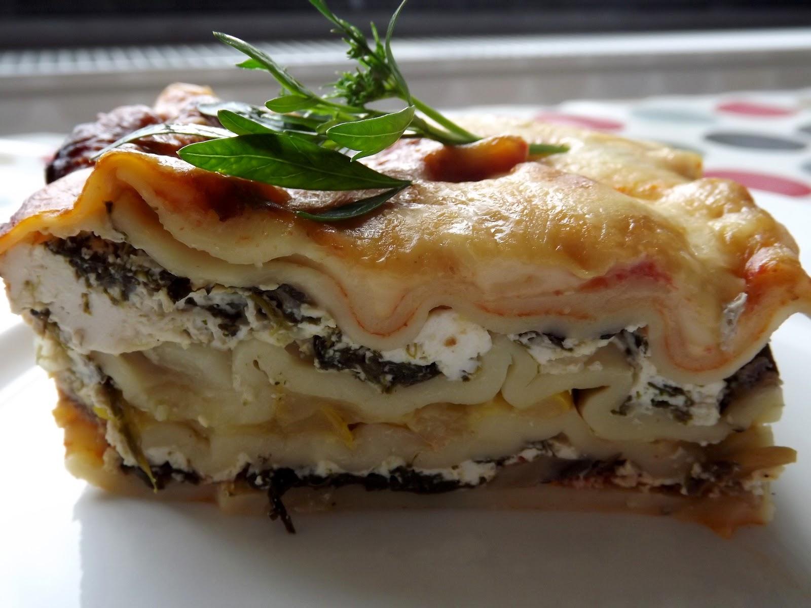 la différence spinach mushroom  ricotta lasagna