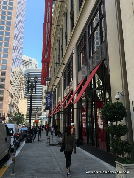 exterior of Gump's in San Francisco, California