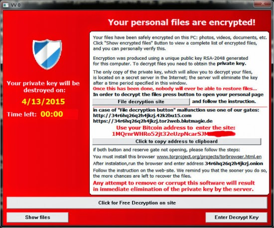 Ransomware Notice