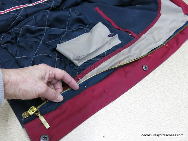 chaqueta con cierre cremallera