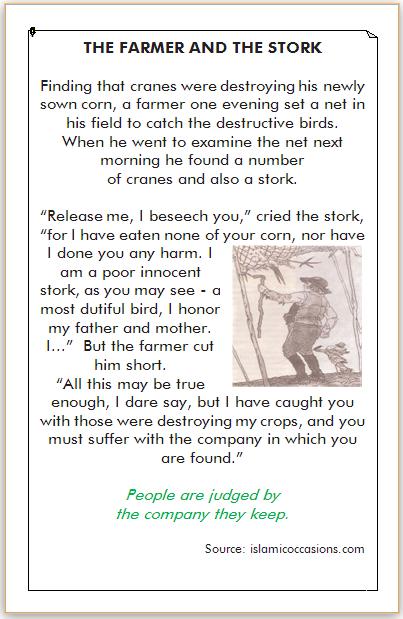 dongeng bahasa inggris petani dan burung bangau