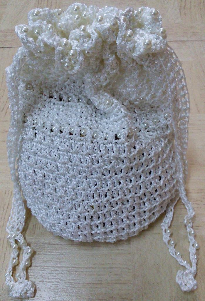 Sweet Nothings Crochet Beaded Potli Bag