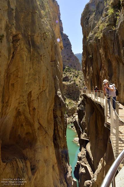 El Caminito del Rey, czyli Szlak Króla. Z prawej skała z lewej przepaść!