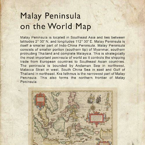 Malay peninsula map