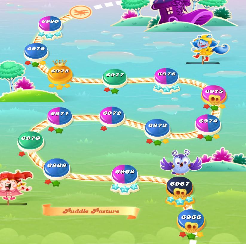 Candy Crush Saga level 6966-6980