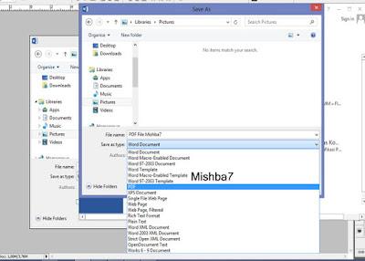 Membuat File PDF Lewat Word