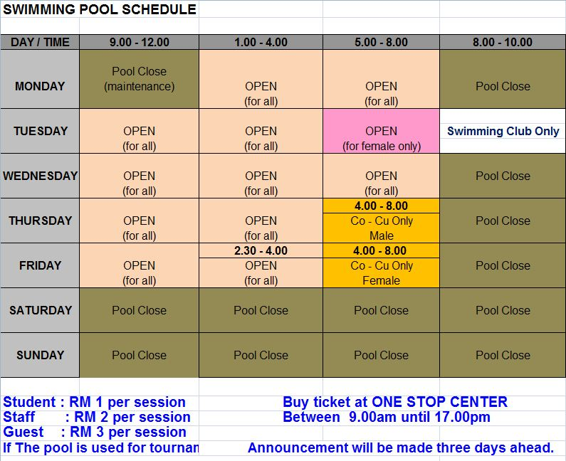 Mmu Swimming Pool Timetable Brocade Blue