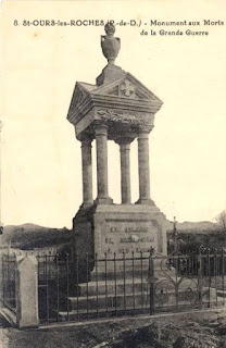 CPA monuments aux Morts du Puy-de-Dôme, Saint Ours les Roches