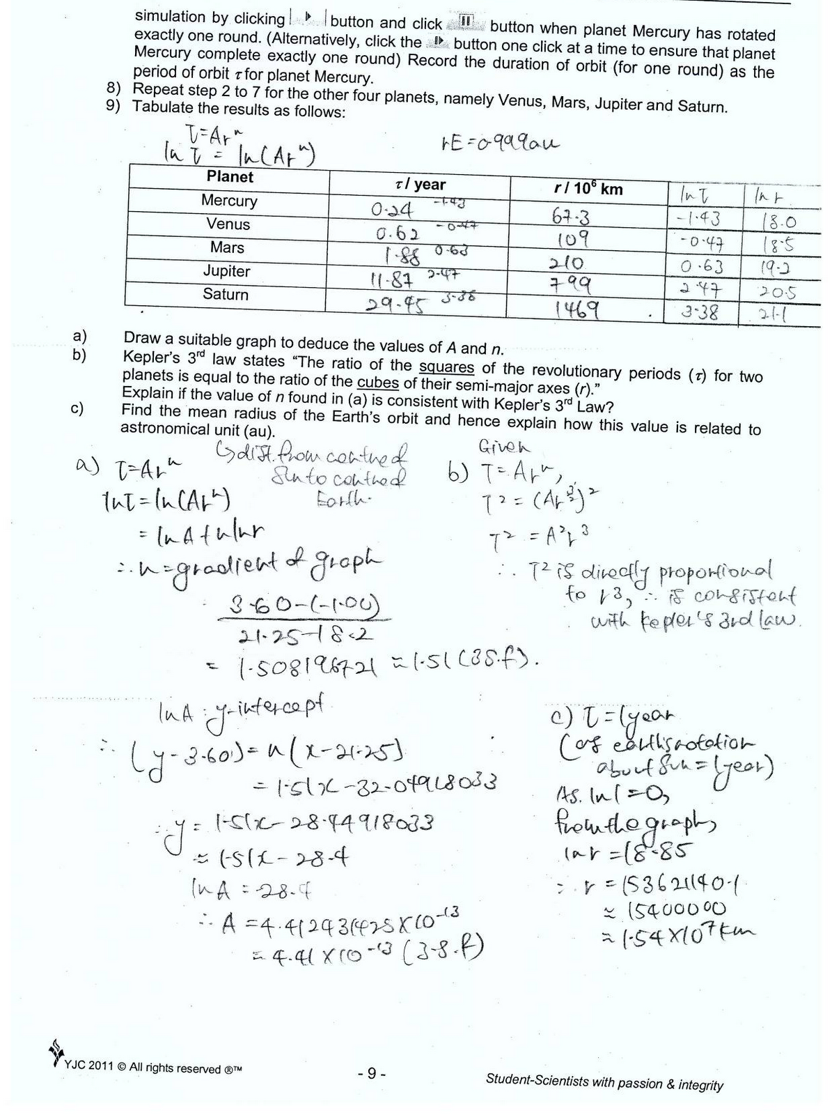 Physics Lab Worksheet Answers