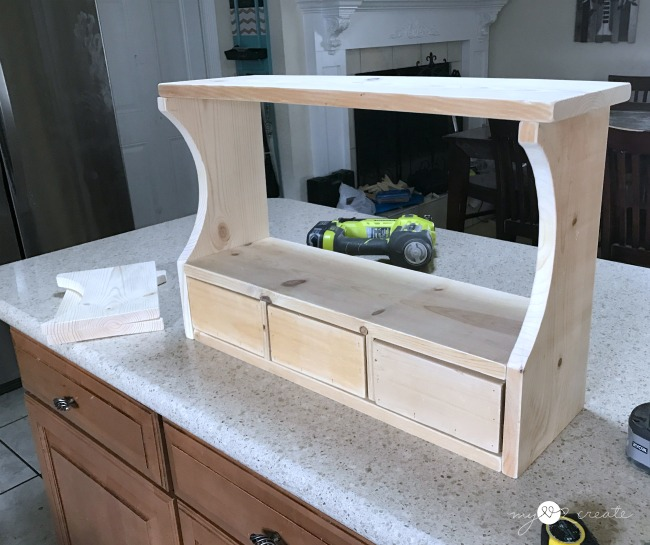 3 Drawer storage shelf MyLove2Create