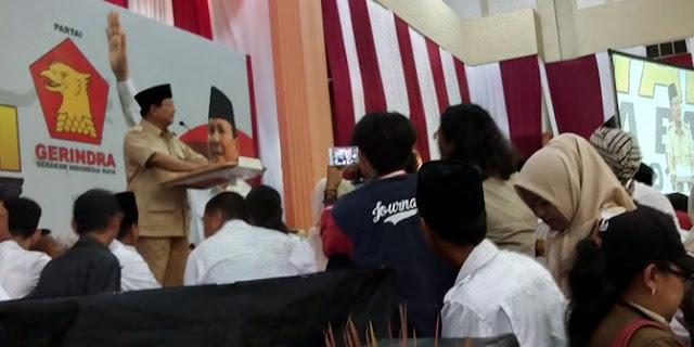 Prabowo: Terus terang Saja Saya Kapok Dengan Elite Indonesia