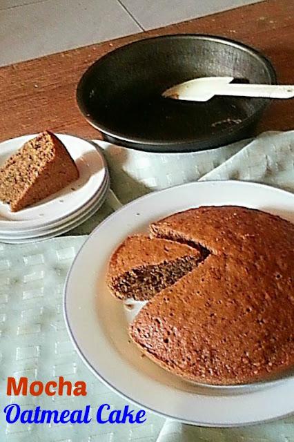 Mocha Oatmeal Cake Recipe @ treatntrick.blogspot.com