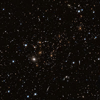 Hubble image of galaxy cluster MACS J0717.5+3745