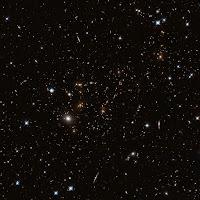 Hubble image of galaxy cluster MACS J0717.5+3745