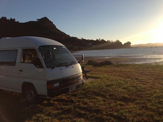 Campervan, McLeod Bay, Whangarei Heads, holidays, New Zealand
