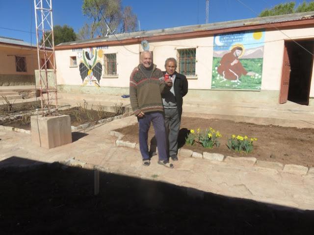Verabschiedung im Pfarrgarten von Esmoraca
