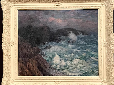 John Russell painting, Stormy weather at Belle-Île, 1904, AGNSW exhibition 2018