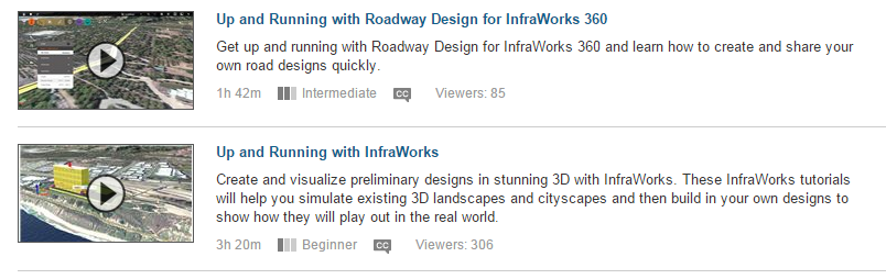Eric Chappell's Blog: Lynda com Offers InfraWorks Training
