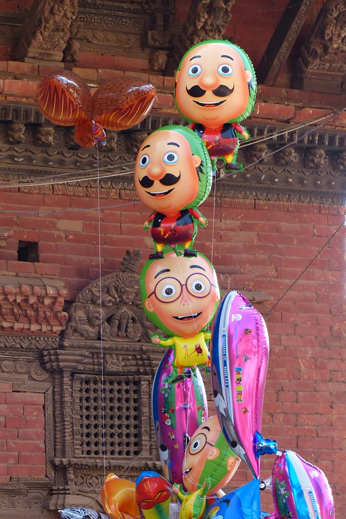 Balloons on sale in Bhaktapur