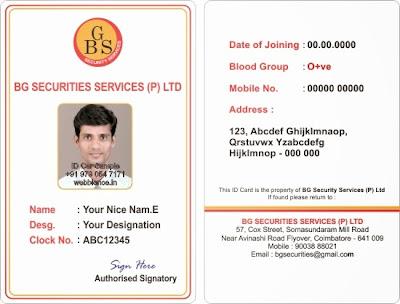 Webbience Bordered Employee ID Card Templates