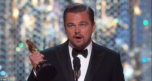 Oscars 2016: Leonardo DiCaprio wins Best Actor for The Revenant           |            The Beauty Dial
