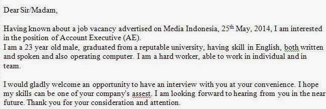 Resume Cover Letter Sample Malaysia Resume Cover Letter Example