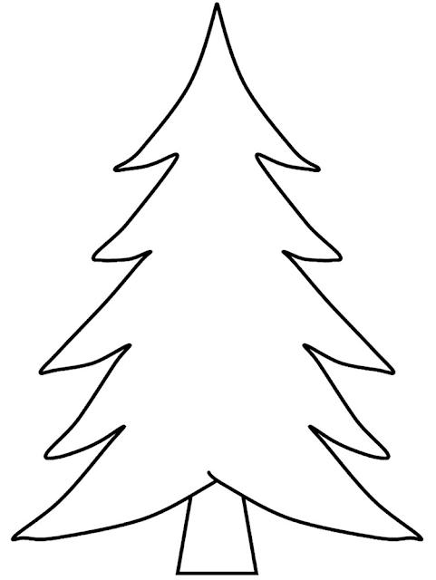 Gambar Mewarnai Pohon Cemara - 3