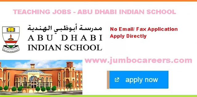 Abu Dhabi Indian School jobs 2019, Abu Dhabi Indian School Teachers Vacancies, ADIS jobs and careers