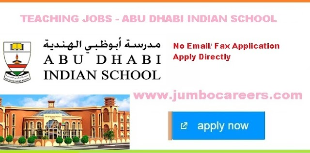 Abu Dhabi Indian School (ADIS) Latest Teacher Vacancies 2020