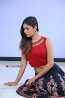 Telugu Actress Nishi Ganda Stills in Red Blouse and Black Skirt at Tik Tak Telugu Movie Audio Launch .COM 0153.JPG