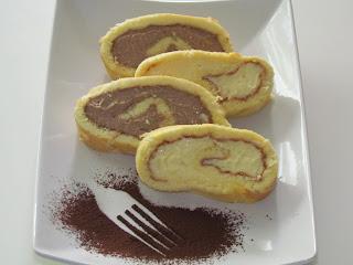 Rulada cu crema de ciocolata / Chocolate Swiss Roll Cake