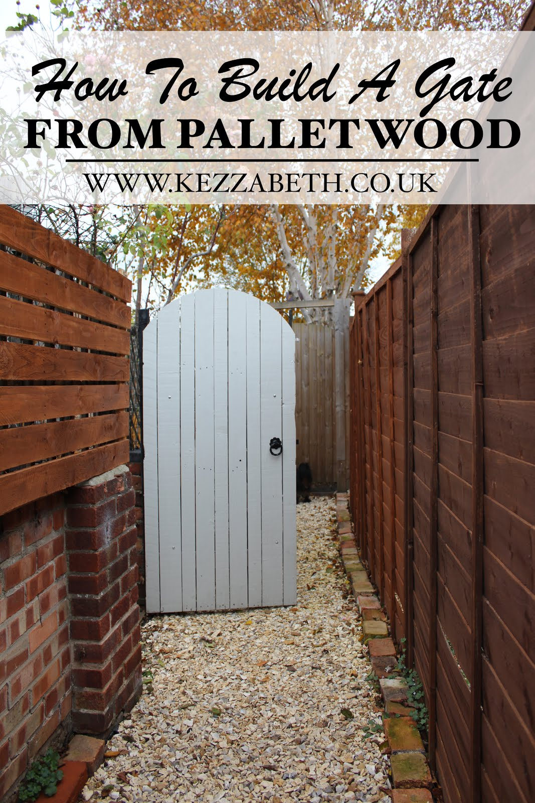 DIY how to build a gate from pallet wood tutorial