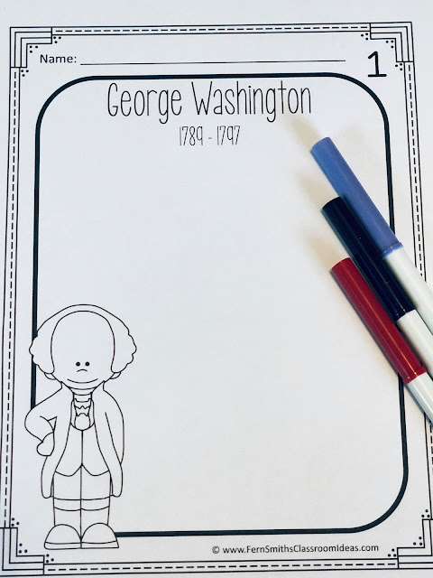United States Presidents Book - Kindergarten and First Grade Version