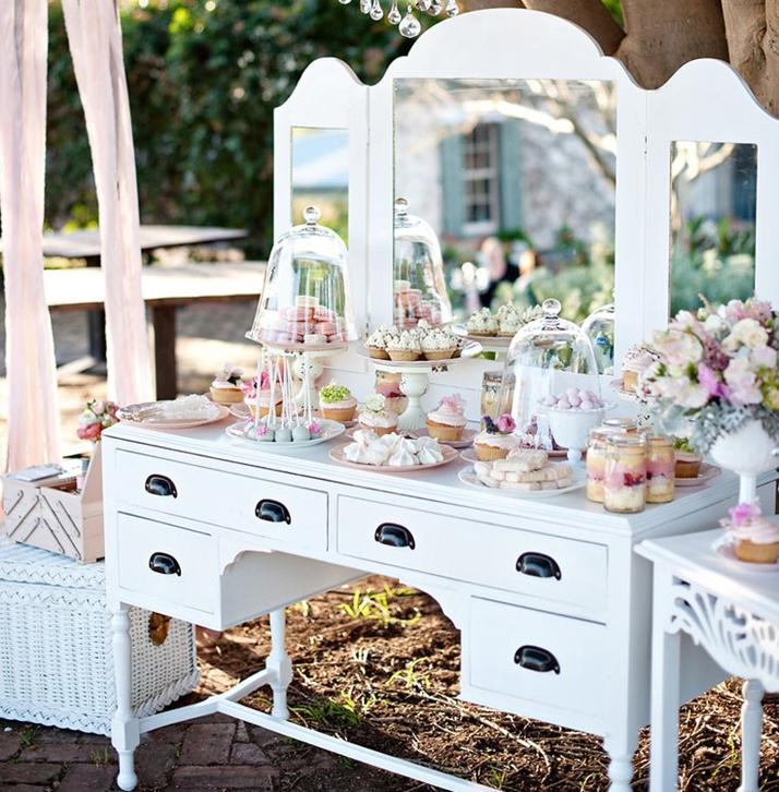 Trucos para una mesa dulce besosdechocolateyfresa - Ideas para decorar mesas de chuches ...