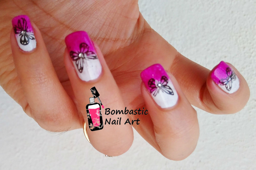 How To Make Butterfly Stamping Decals On Gradient Nails – Bombastic ...
