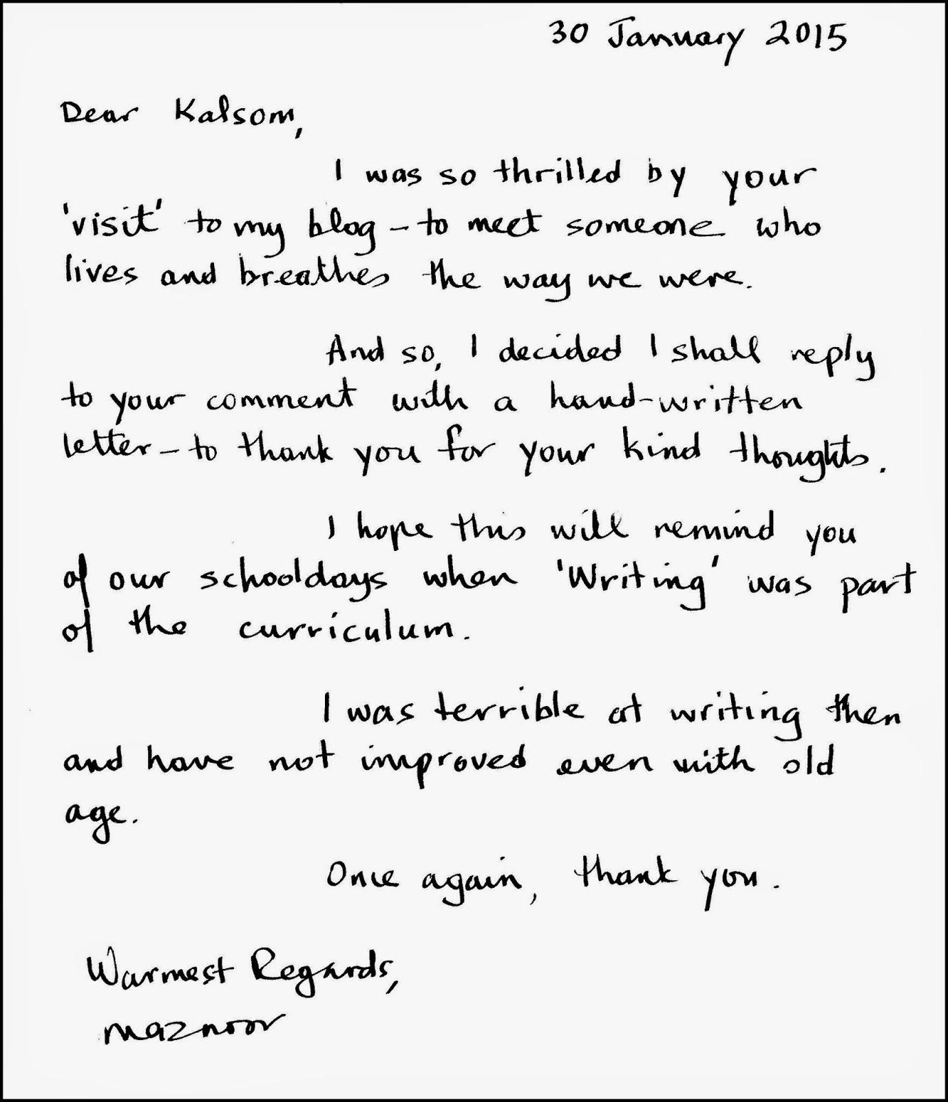 Writing A Kairos Letter