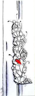 Bookmark tile with Patterns: Growing Hearts, Tipple, Fescu, Sez