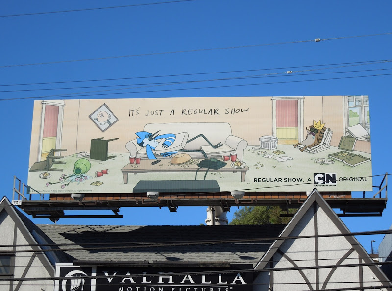 Regular Show cartoon billboard