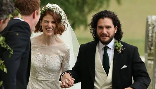 'Game Of Thrones' Stars Kit Harington And Rose Leslie Married in scotland