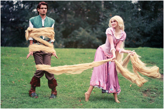 Rapunzel & Flynn Ryder from Tangled