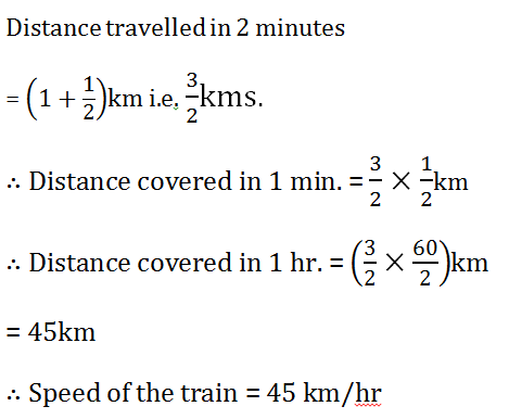 time and distance questions solution