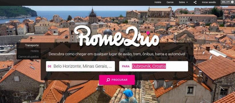 Sites e aplicativos para viajantes - Rome2Rio