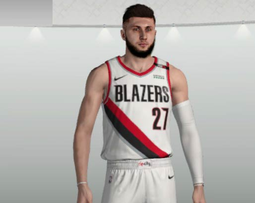 NBA 2K19 Jusuf Nurkic CyberFace