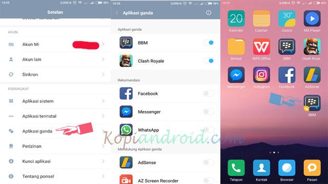 Cara Membuat Aplikasi Menjadi Dua Tanpa Aplikasi Di Xiaomi